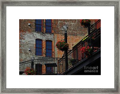 Pearl Street Grill Framed Print