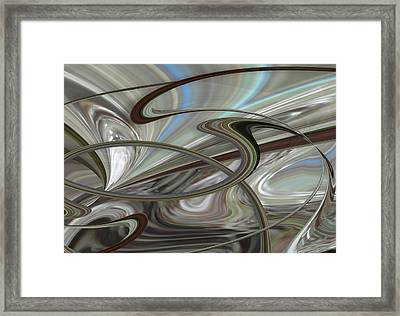 Pearl Swirl Framed Print by Ginny Schmidt