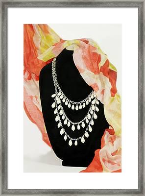 Pearl Tiers Framed Print