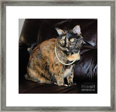Framed Print featuring the photograph Pearl With Pearls by Oksana Semenchenko