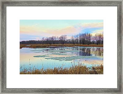 Pearlescent Dawn... Framed Print