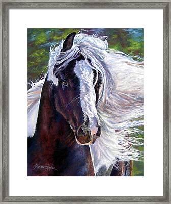 Pearlie King Gypsy Vanner Stallion Framed Print
