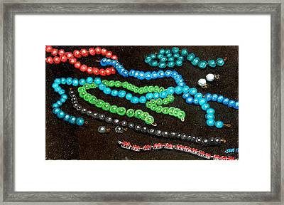 Pearls And Rubys Framed Print by Joseph Hawkins