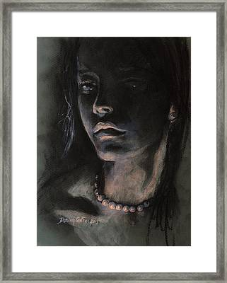 Pearls Framed Print by Dorina  Costras