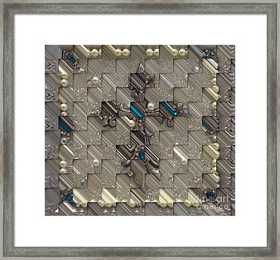 Pearls Of Love Surrounds The Cross Framed Print by Liane Wright