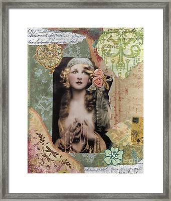 Pearls Of My Heart Framed Print by Tamyra Crossley