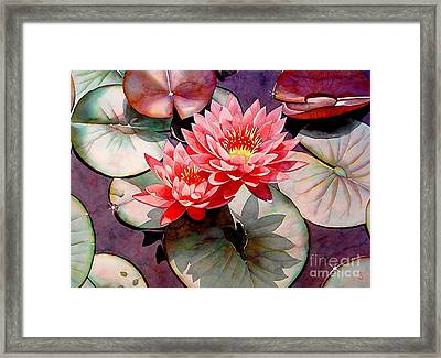 Pearls Of The Pond Framed Print