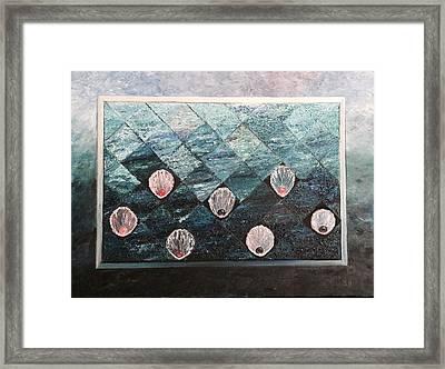 Pearls Framed Print by Suniti Bhand