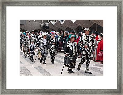 Pearly Kings And Queens Parade. Framed Print