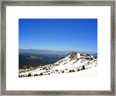 Pearly Mountains  Framed Print by Elizabeth Trujillo