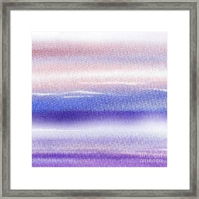 Pearly Sky Abstract I Framed Print by Irina Sztukowski