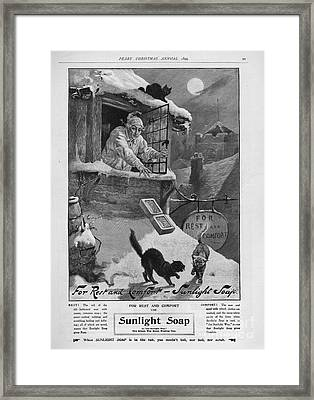 Pears  1899 1890s Uk Cc Sunlight Winter Framed Print by The Advertising Archives
