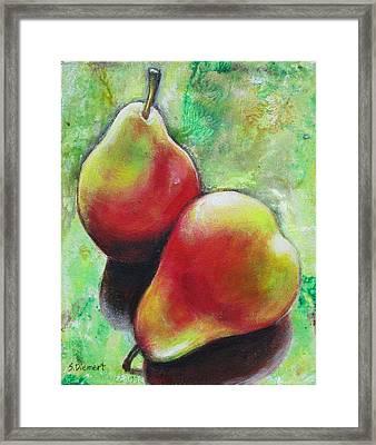 Pears 2 Framed Print by Sheila Diemert