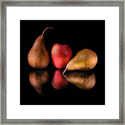 Pears And Apple Framed Print
