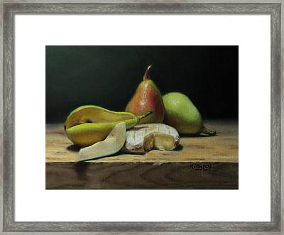 Pears And Cheese Framed Print by Brianne Kirbyson