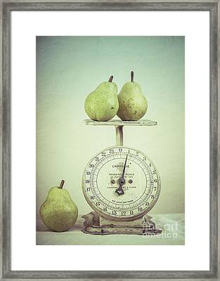Pears And Kitchen Scale Still Life Framed Print by Edward Fielding