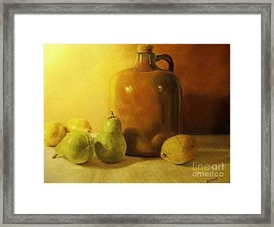 Pears And Lemons Framed Print by Patricia  Lang