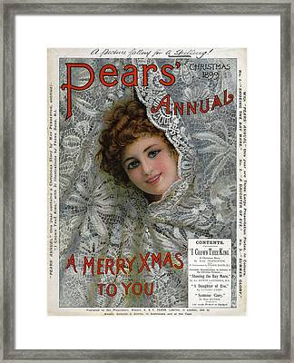 Pears Annual 1899 1890s Uk Cc Christmas Framed Print by The Advertising Archives