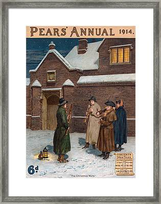Pears Annual 1914 1910s Uk Cc Winter Framed Print by The Advertising Archives