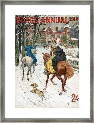 Pears Annual 1918 1910s Uk Cc Winter Framed Print by The Advertising Archives