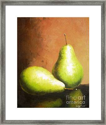 Pears Framed Print by Ashley MISNER