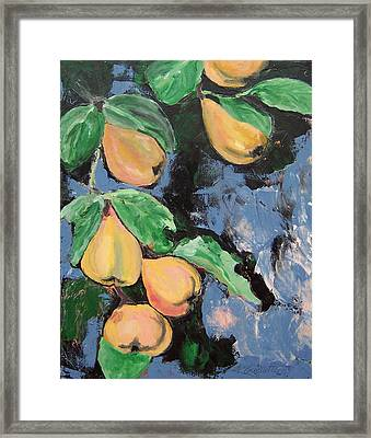 Pears Framed Print by Krista Ouellette
