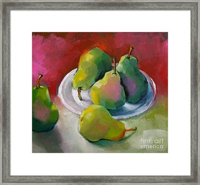 Pears Framed Print by Michelle Abrams