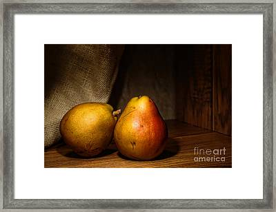 Pears Framed Print by Olivier Le Queinec