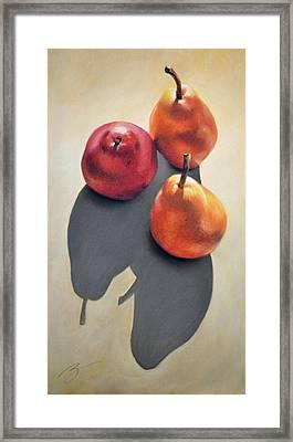 Pears Pastel Framed Print