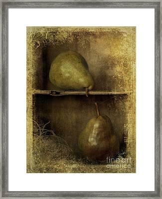Pears Framed Print by Priska Wettstein