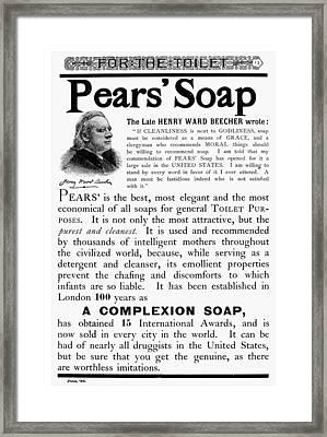 Pears' Soap Ad, 1889 Framed Print by Granger