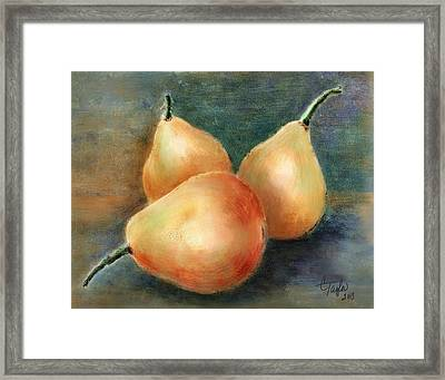 Pears Still Life Framed Print by Colleen Taylor