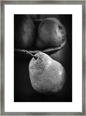 Pears Still Life In Monochrome Framed Print by Vishwanath Bhat