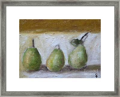 Pears Framed Print by Venus