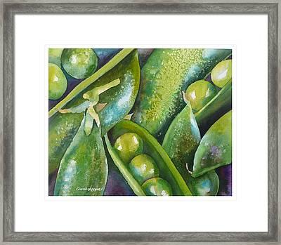 Peas In A Pod Framed Print by Anne Gifford