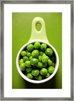 Peas In Small Bowl Framed Print