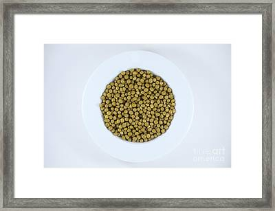 Peas In White Soup Bowl Framed Print by Jim Corwin