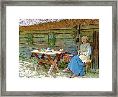 Peasant Felting In Rocca Al Mare Open Air Museum-estonia Framed Print by Ruth Hager