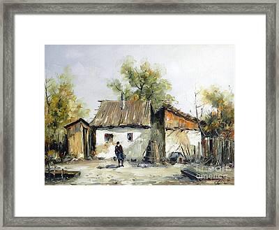 Peasant Yard Framed Print by Petrica Sincu