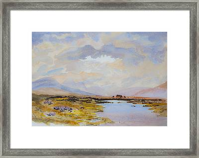 Peat Bogs Of Connemara Framed Print