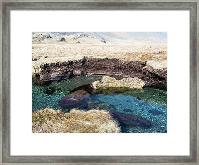 Peat Eroded On The River Esk Framed Print