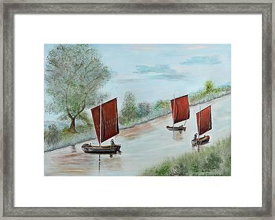 Peat Ship Framed Print