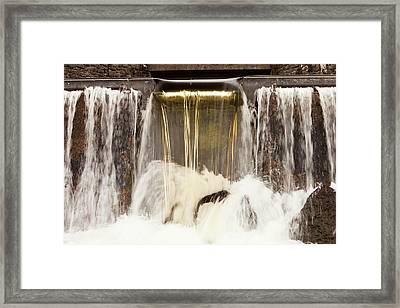 Peat Staining In Water Framed Print