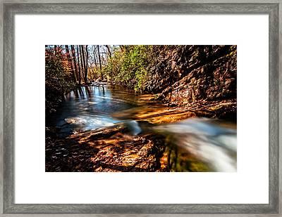 Peavine Creek Framed Print by Andy Crawford