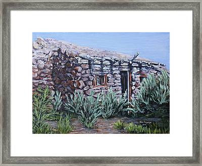 Peavine Ruins Framed Print by Julie Townsend