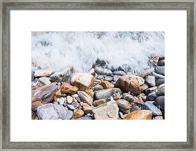 Pebble Beach Framed Print by Atiketta Sangasaeng