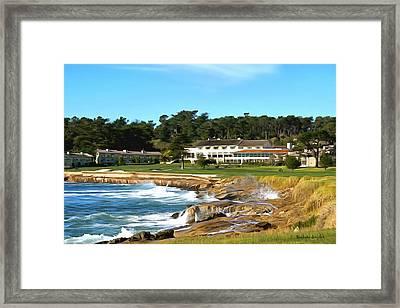 Pebble Beach Club House Framed Print by Barbara Snyder