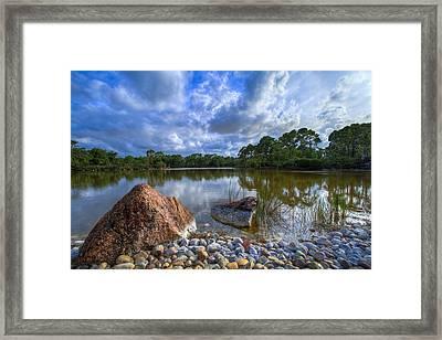 Pebble Beach Framed Print by Debra and Dave Vanderlaan