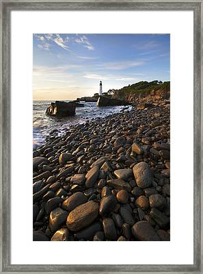Pebble Beach Framed Print by Eric Gendron
