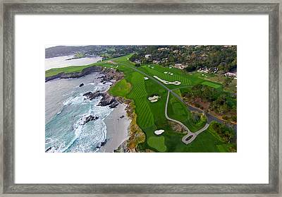 Pebble Beach Golf Course Framed Print by David Levy